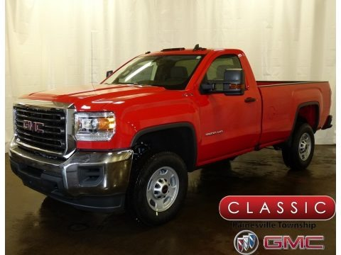 Cardinal Red 2018 GMC Sierra 2500HD Regular Cab 4x4