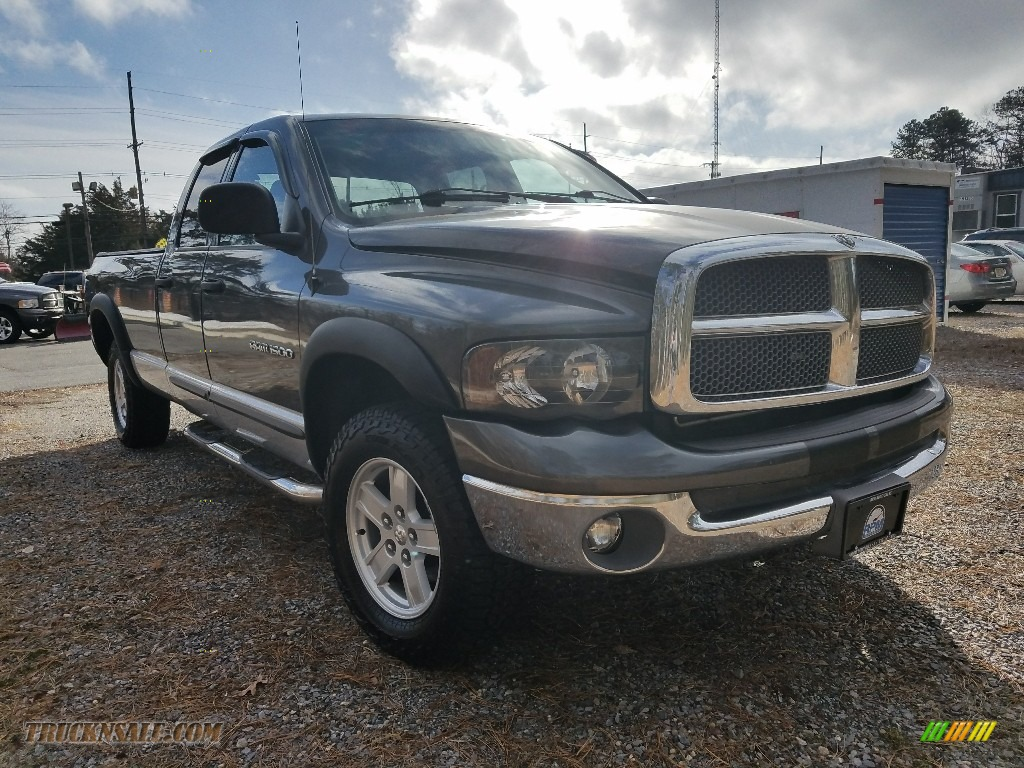 2002 Ram 1500 SLT Quad Cab 4x4 - Graphite Metallic / Dark Slate Gray photo #7