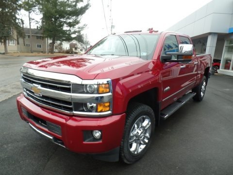 Cajun Red Tintcoat 2018 Chevrolet Silverado 2500HD High Country Crew Cab 4x4