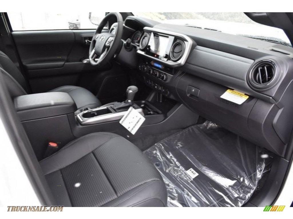 2018 Tacoma Limited Double Cab 4x4 - Super White / Black photo #11