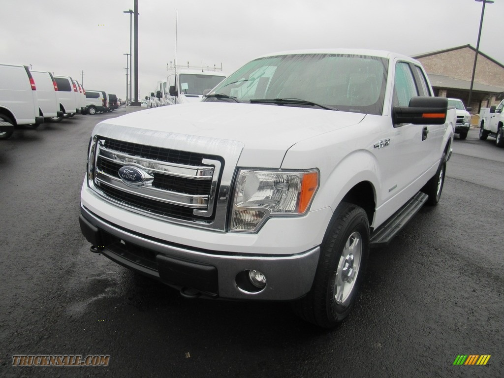 2014 F150 XLT SuperCab 4x4 - Oxford White / Pale Adobe photo #1