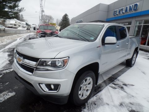 Silver Ice Metallic 2018 Chevrolet Colorado LT Crew Cab 4x4