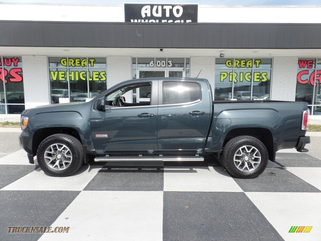 2017 Canyon SLE Crew Cab 4x4 - Cyber Gray Metallic / Jet Black/­Dark Ash photo #1
