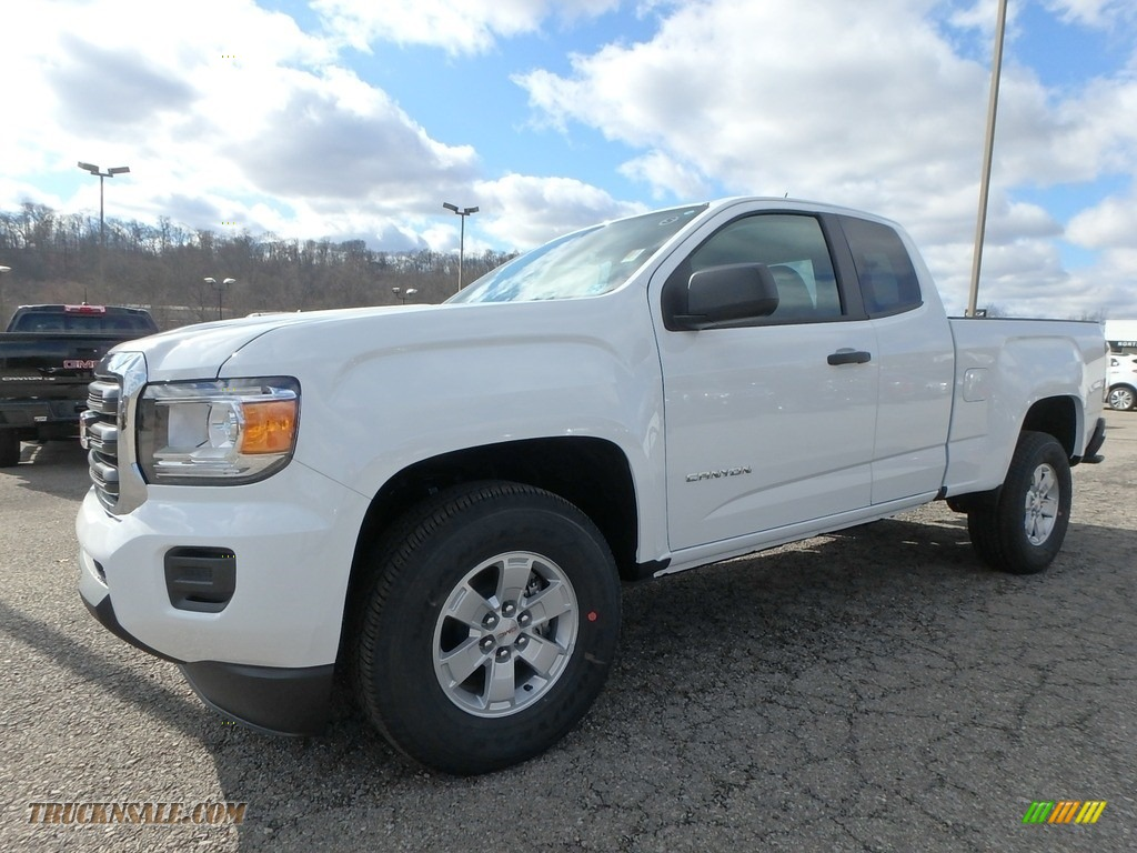 Summit White / Jet Black/Dark Ash GMC Canyon Extended Cab