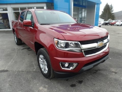 Cajun Red Tintcoat 2018 Chevrolet Colorado LT Crew Cab 4x4