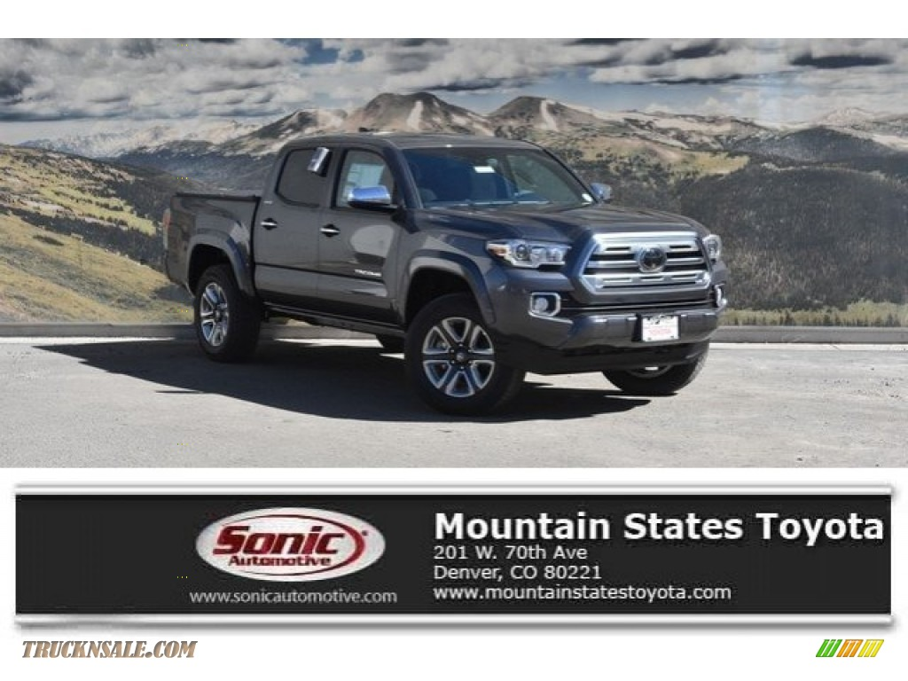 2018 Tacoma Limited Double Cab 4x4 - Magnetic Gray Metallic / Black photo #1