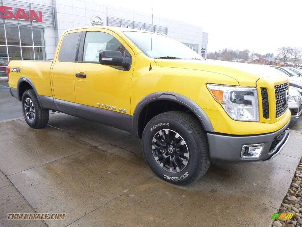 2018 Titan PRO-4X King Cab 4x4 - SolarFlare Yellow / Black photo #1