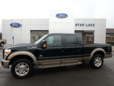 Green Gem Metallic 2012 Ford F250 Super Duty King Ranch Crew Cab 4x4