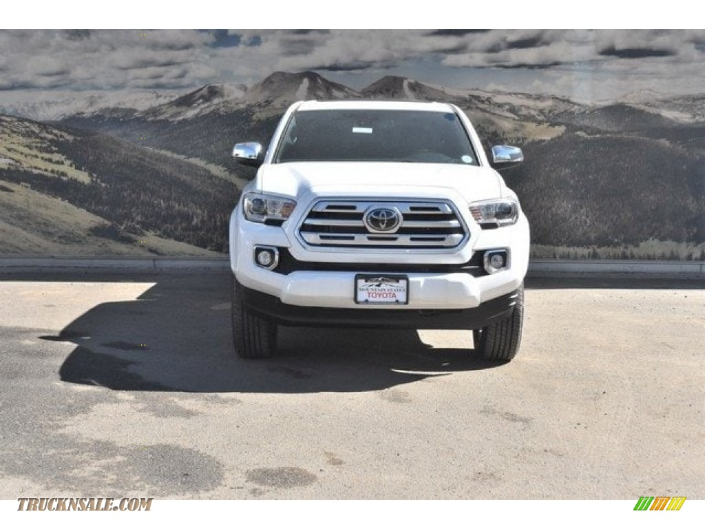 2018 Tacoma Limited Double Cab 4x4 - Super White / Black photo #2