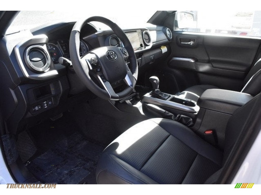 2018 Tacoma Limited Double Cab 4x4 - Super White / Black photo #5