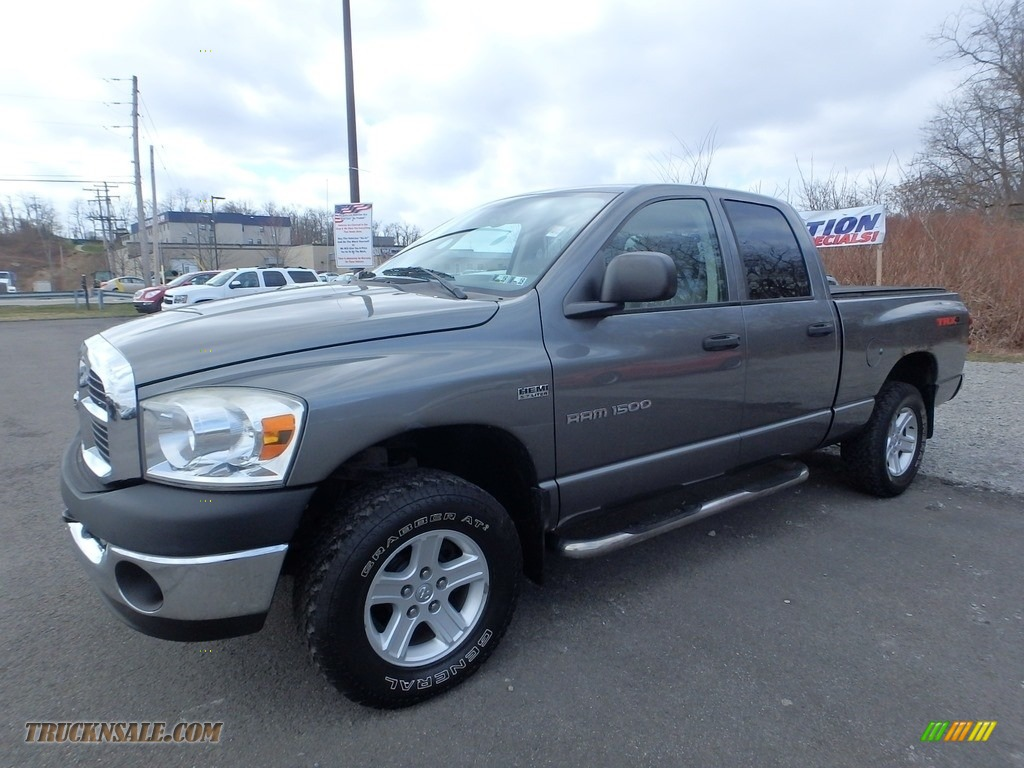 2007 Ram 1500 SLT Quad Cab 4x4 - Mineral Gray Metallic / Medium Slate Gray photo #1