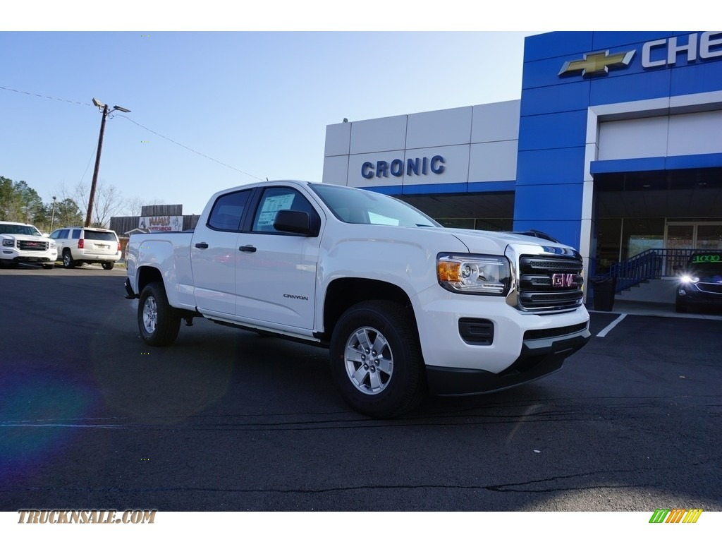 Summit White / Jet Black/Dark Ash GMC Canyon Crew Cab