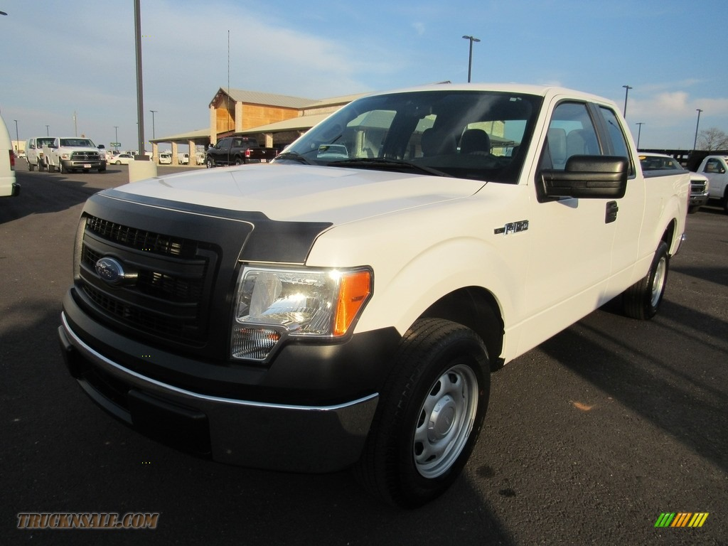 2014 F150 XL SuperCab - Oxford White / Steel Grey photo #1