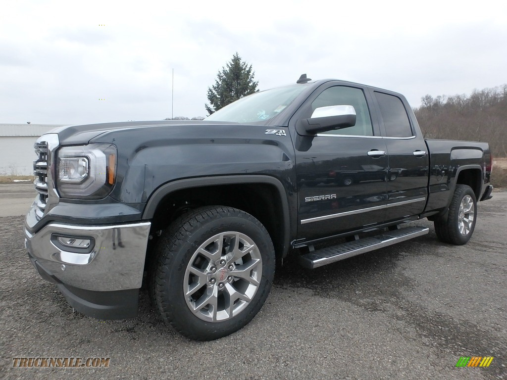 2018 Sierra 1500 SLT Double Cab 4WD - Dark Slate Metallic / Cocoa/­Dune photo #1