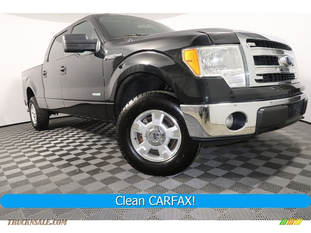 2014 F150 XLT SuperCrew 4x4 - Tuxedo Black / Steel Grey photo #1