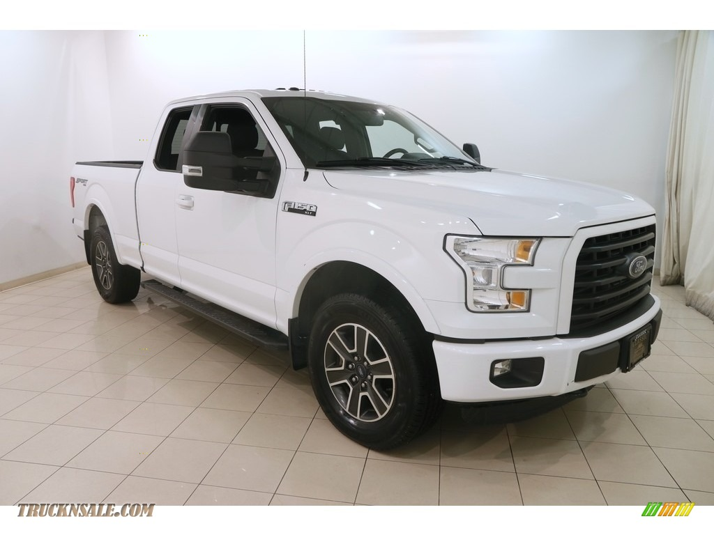 2015 F150 XLT SuperCab 4x4 - Oxford White / Black photo #1