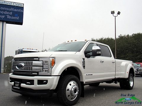 White Platinum 2018 Ford F450 Super Duty Platinum Crew Cab 4x4