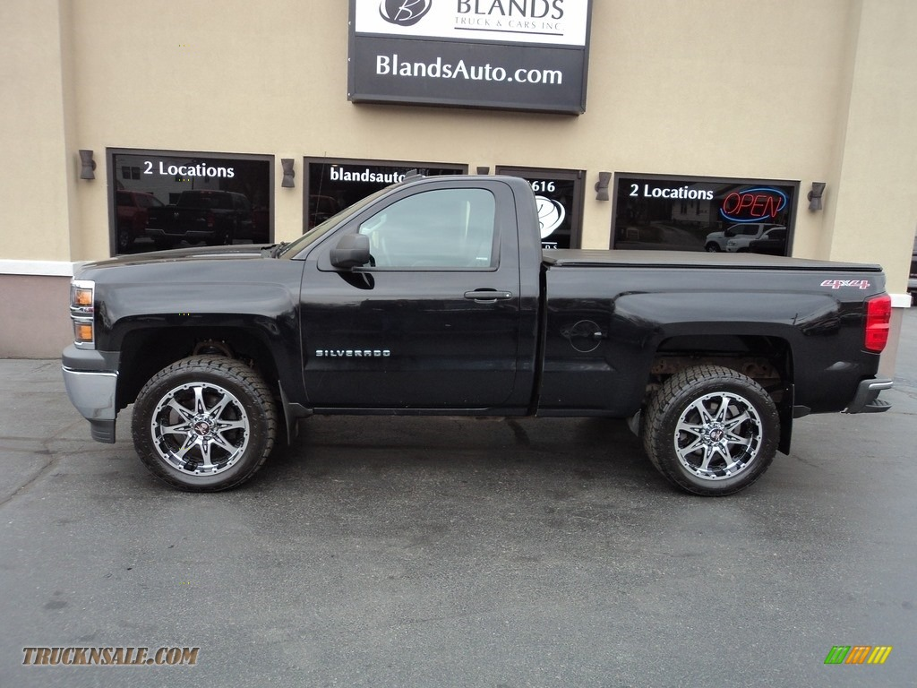 2014 Silverado 1500 WT Regular Cab 4x4 - Black / Jet Black/Dark Ash photo #1