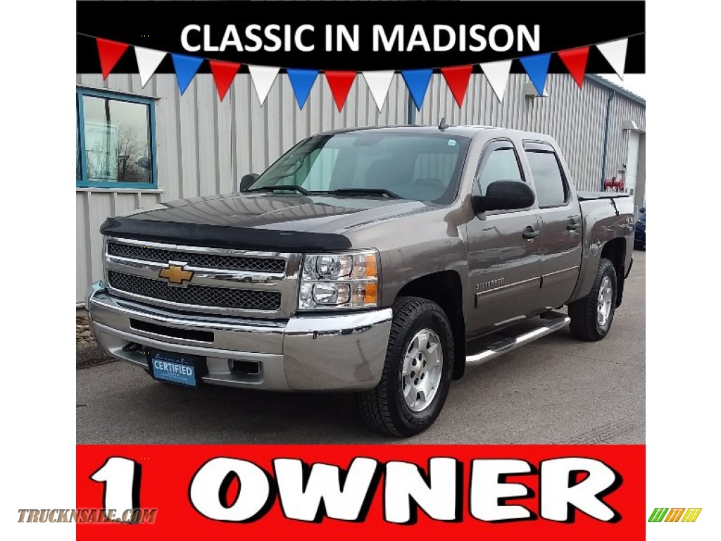 2013 Silverado 1500 LT Crew Cab 4x4 - Mocha Steel Metallic / Ebony photo #1