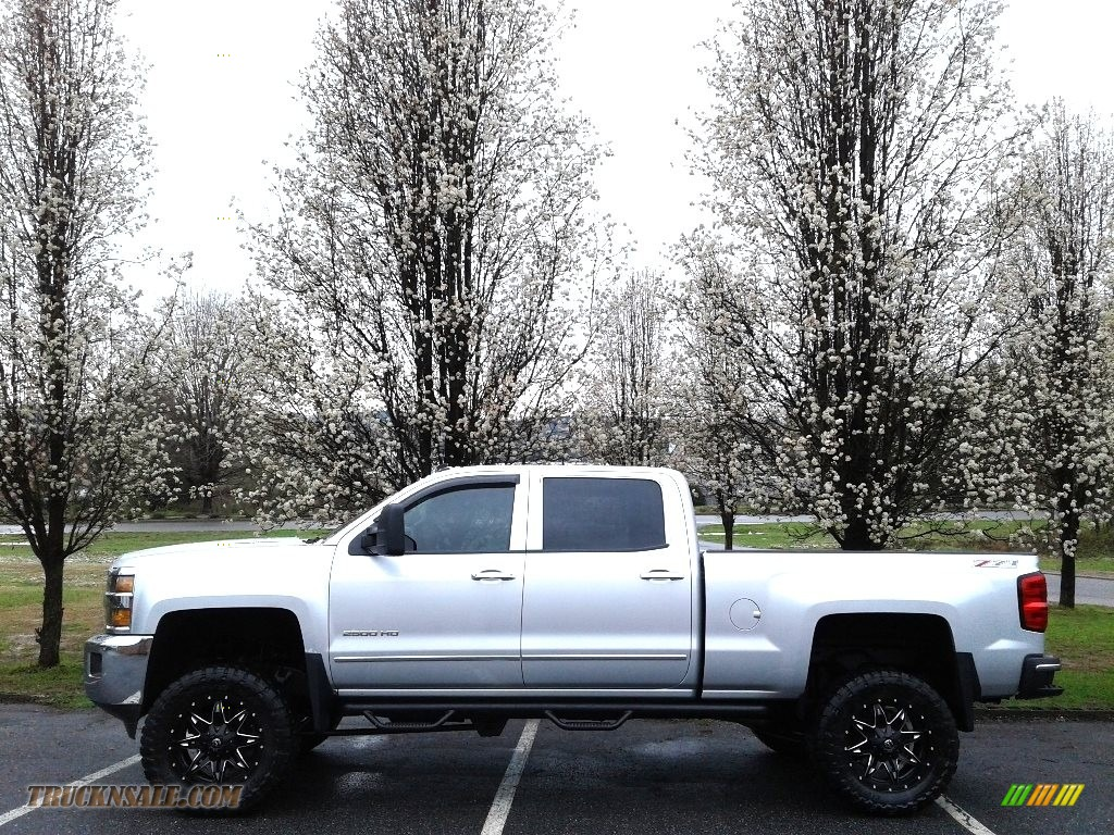 2015 Silverado 2500HD LTZ Crew Cab 4x4 - Silver Ice Metallic / Cocoa/Dune photo #1