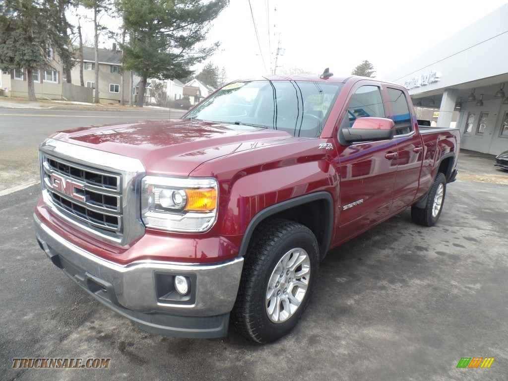 2015 Sierra 1500 SLE Double Cab 4x4 - Sonoma Red Metallic / Jet Black photo #1