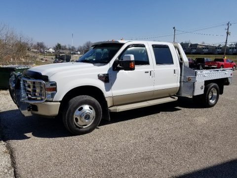Oxford White 2008 Ford F350 Super Duty King Ranch Crew Cab 4x4 Dually