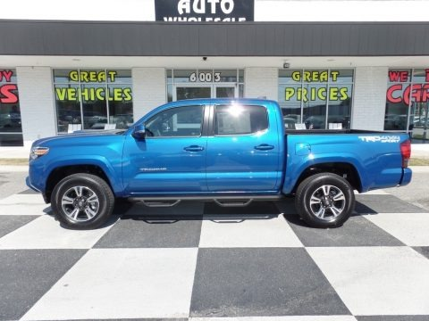 Blazing Blue Pearl 2017 Toyota Tacoma TRD Sport Double Cab 4x4