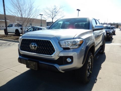 Silver Sky Metallic 2018 Toyota Tacoma TRD Sport Double Cab 4x4