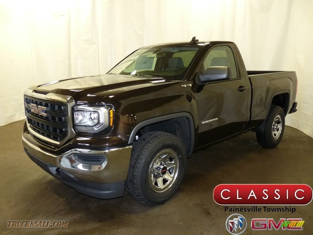 2018 Sierra 1500 Regular Cab 4WD - Deep Mahogany Metallic / Dark Ash/Jet Black photo #1