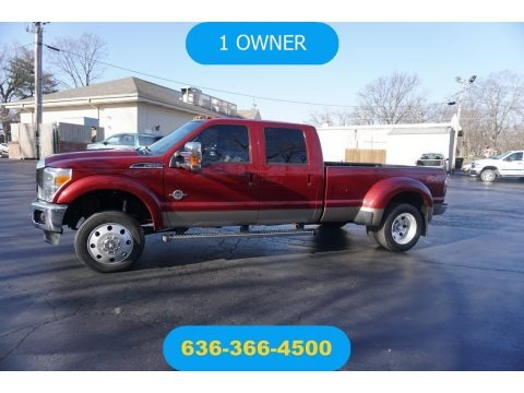 Ruby Red Metallic 2014 Ford F350 Super Duty Lariat Crew Cab 4x4 Dually
