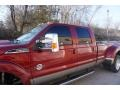 Ford F350 Super Duty Lariat Crew Cab 4x4 Dually Ruby Red Metallic photo #3