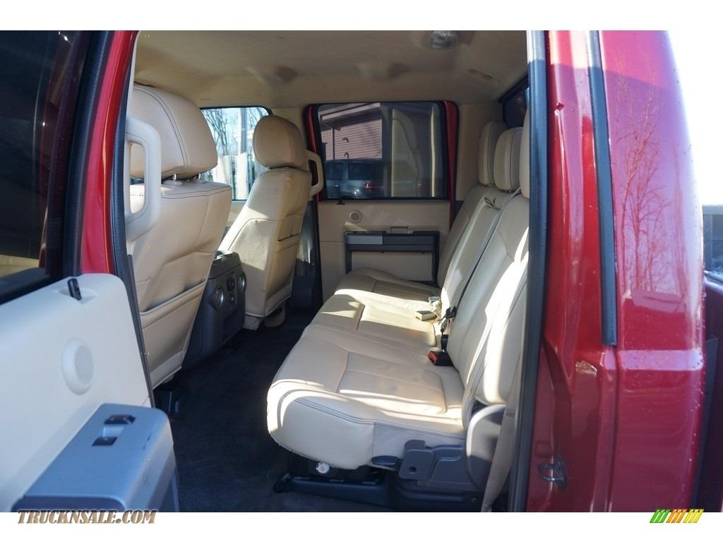 2014 F350 Super Duty Lariat Crew Cab 4x4 Dually - Ruby Red Metallic / Adobe photo #36