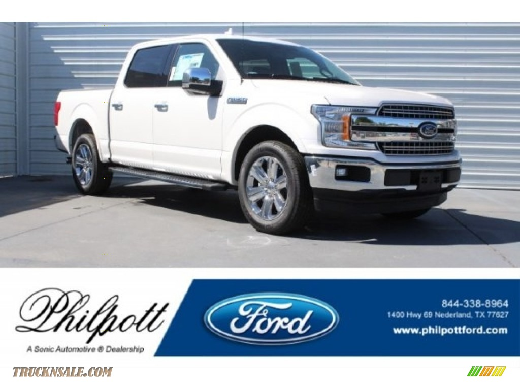 2018 F150 Lariat SuperCrew - White Platinum / Black photo #1