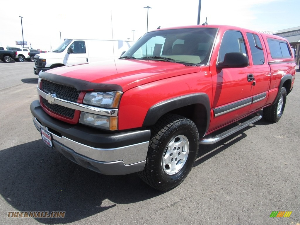2003 Silverado 1500 LT Extended Cab 4x4 - Victory Red / Tan photo #1