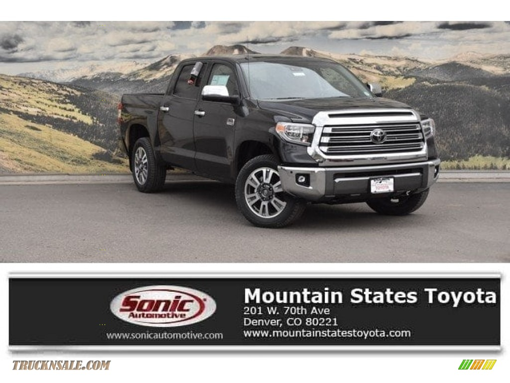 2018 Tundra 1794 Edition CrewMax 4x4 - Midnight Black Metallic / 1794 Edition Black/Brown photo #1