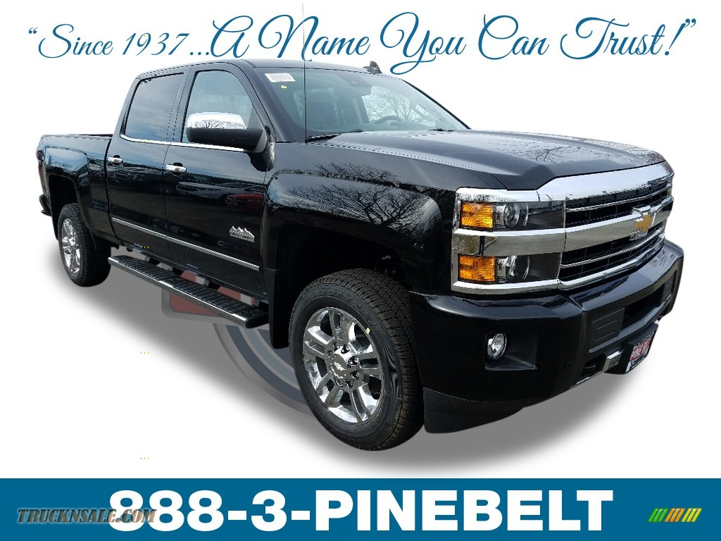 2018 Silverado 2500HD High Country Crew Cab 4x4 - Black / High Country Jet Black/Medium Ash photo #1