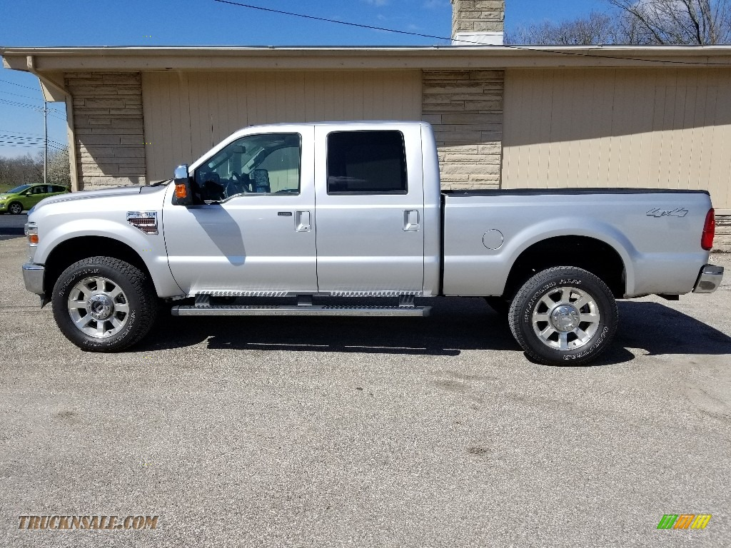 2010 F350 Super Duty Lariat Crew Cab 4x4 - Ingot Silver Metallic / Ebony photo #1