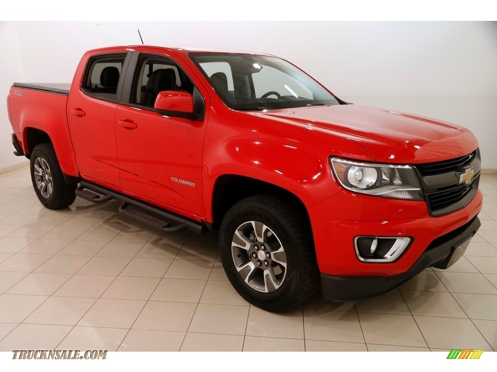 2016 Colorado Z71 Crew Cab 4x4 - Red Hot / Jet Black photo #1