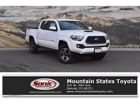 Super White 2018 Toyota Tacoma TRD Sport Double Cab 4x4