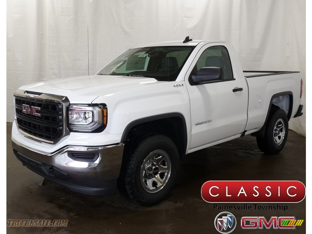 Summit White / Dark Ash/Jet Black GMC Sierra 1500 Regular Cab 4WD