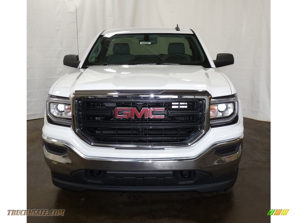 2018 Sierra 1500 Regular Cab 4WD - Summit White / Dark Ash/Jet Black photo #4