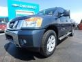 Nissan Titan SV Crew Cab 4x4 Graphite Blue photo #2