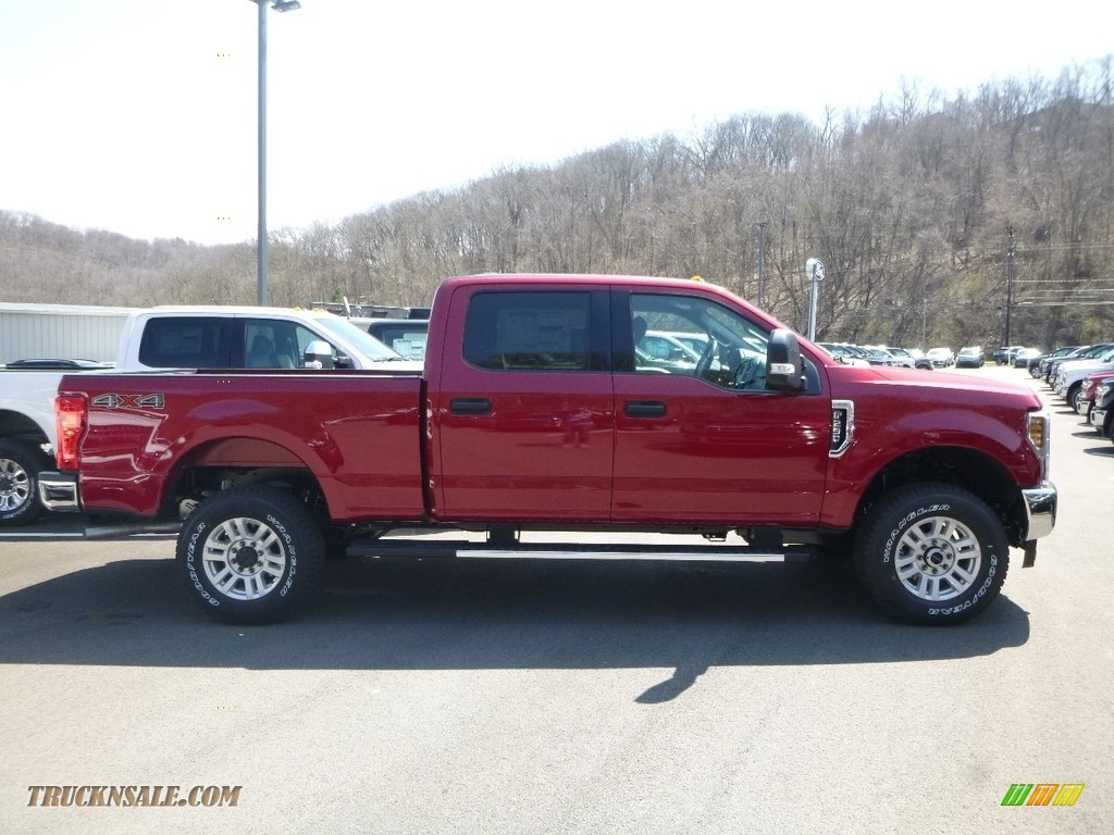 2018 F250 Super Duty XLT Crew Cab 4x4 - Ruby Red / Earth Gray photo #1