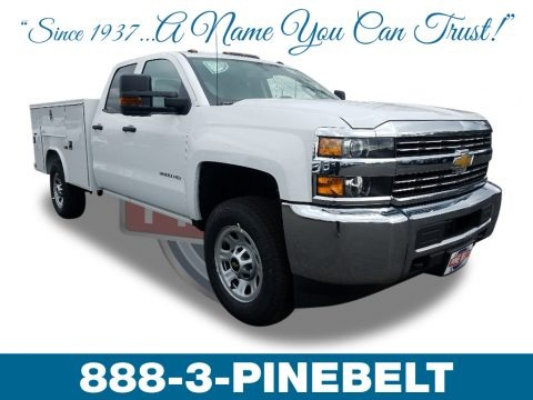 Summit White 2018 Chevrolet Silverado 3500HD Work Truck Double Cab 4x4 Chassis