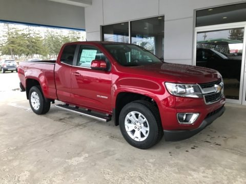 Cajun Red Tintcoat 2018 Chevrolet Colorado LT Extended Cab
