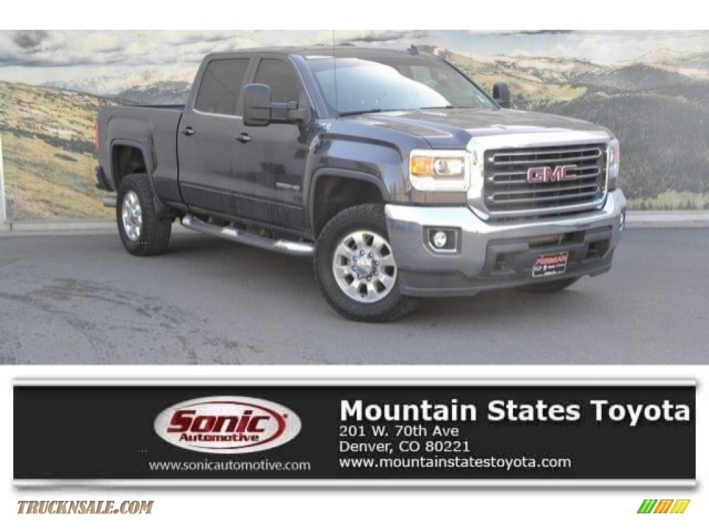 2015 Sierra 2500HD SLE Crew Cab 4x4 - Iridium Metallic / Jet Black photo #1