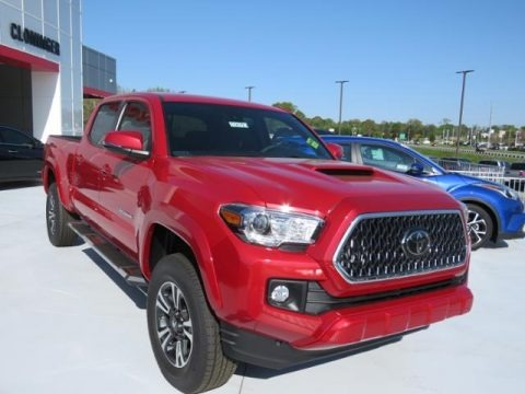 Barcelona Red Metallic 2018 Toyota Tacoma TRD Sport Double Cab