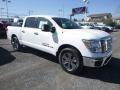 Nissan Titan SV Crew Cab 4x4 Glacier White photo #1