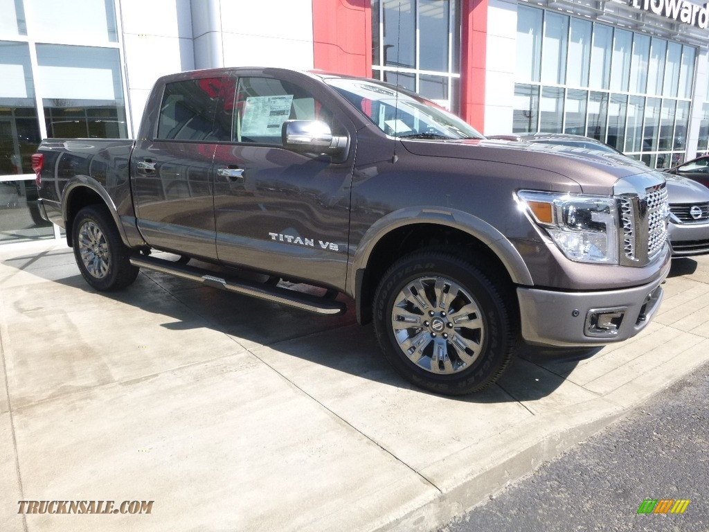 2018 Titan Platinum Reserve Crew Cab 4x4 - Java Metallic / Platinum Reserve Black/Brown photo #1