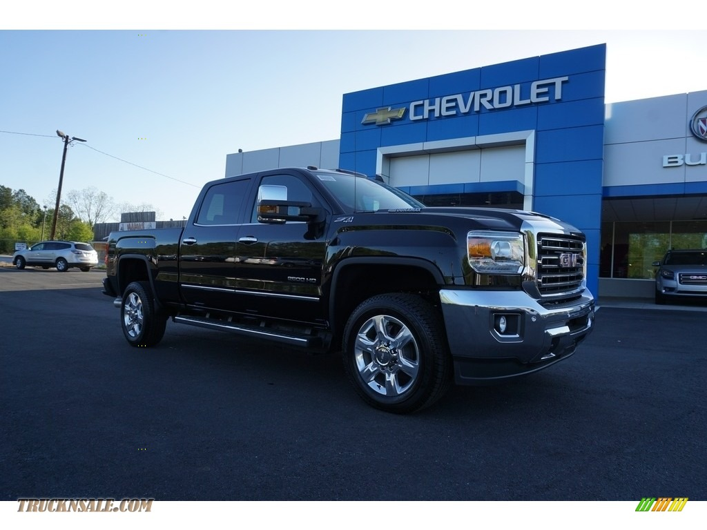 2018 Sierra 2500HD SLT Crew Cab 4x4 - Onyx Black / Cocoa/­Dune photo #1